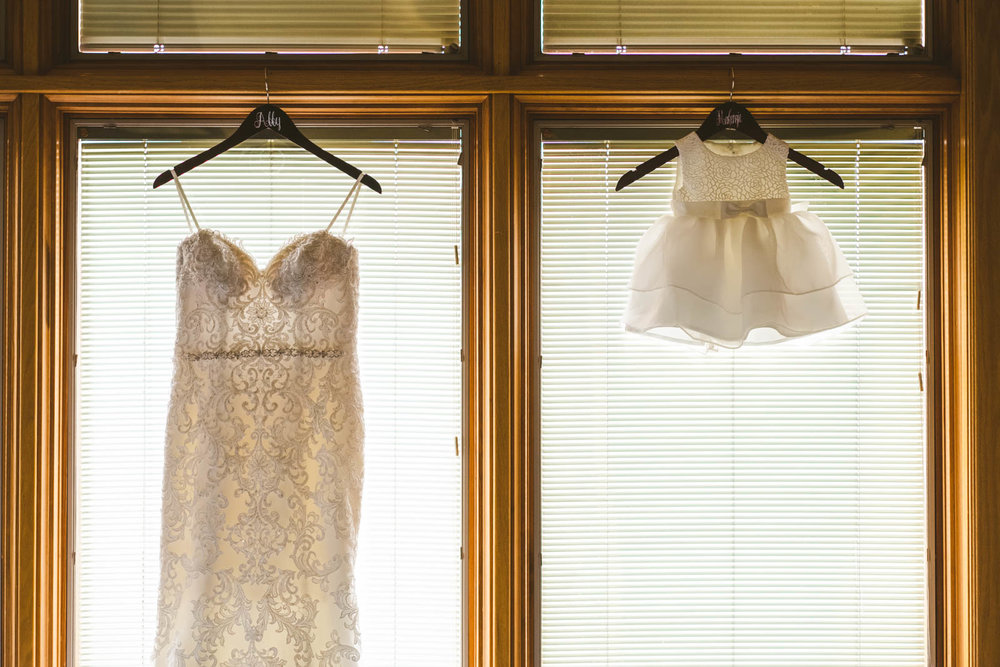 Wedding Dress and Flower Girl's Dress at Stone Ridge Golf Club in Bowling Green Ohio