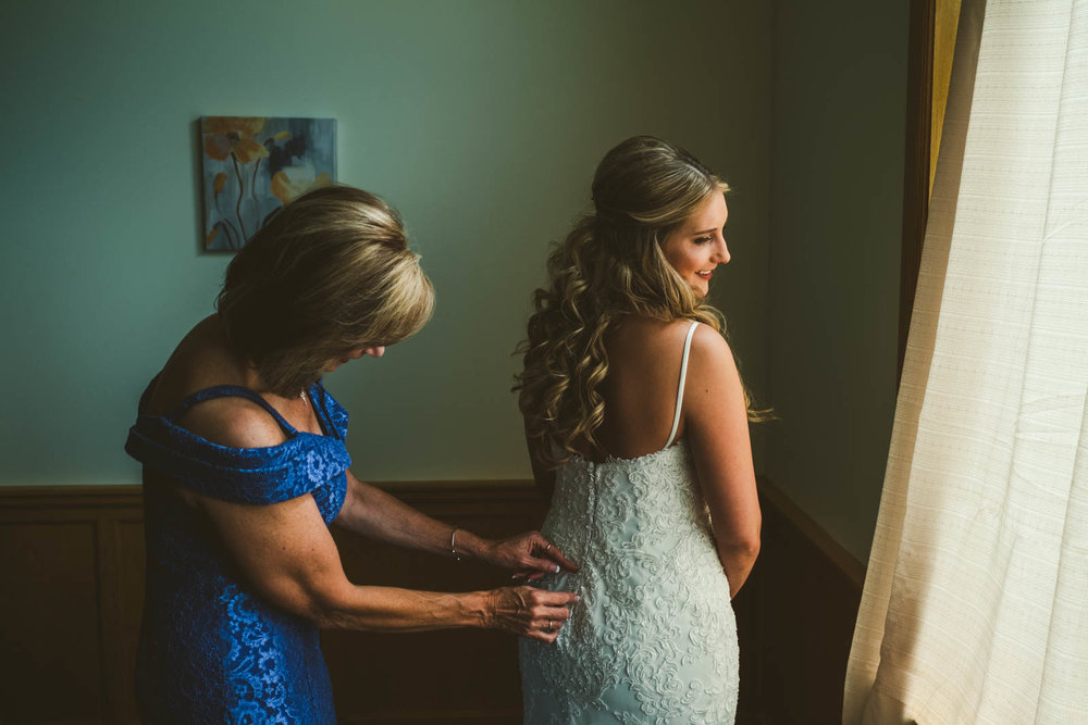 Mother of the Bride Pose for Toledo Wedding Photographers before Wedding at Stone Ridge Golf Club
