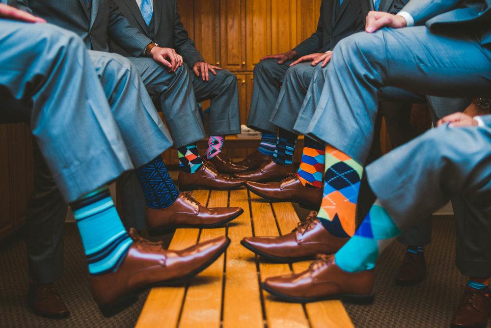 Groomsmen at Stone Ridge Golf Club before Wedding with Toledo Photographers