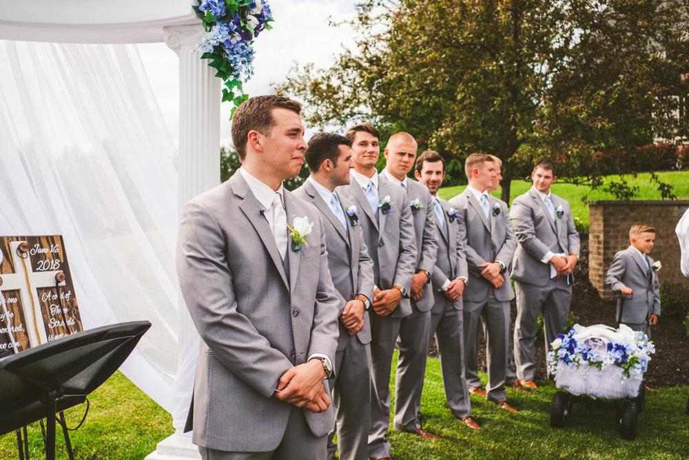 Toledo Wedding Photographers Capture Groom on Wedding Day at Stone Ridge Golf Club