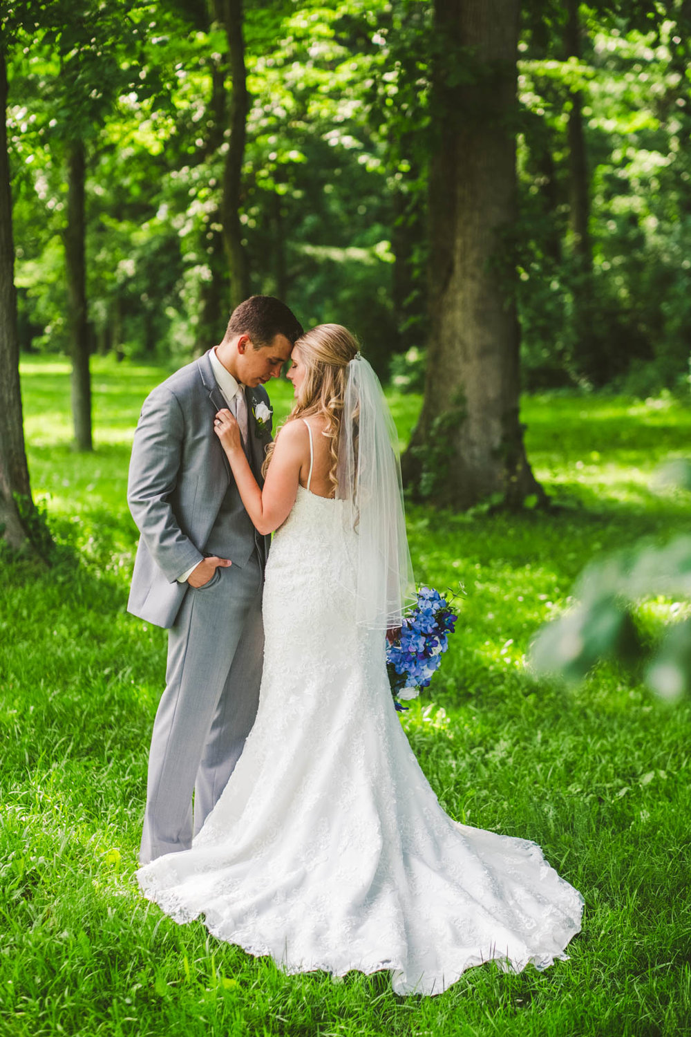 Bride and Groom on Wedding Day in Bowling Green Ohio at Stone Ridge Golf Club