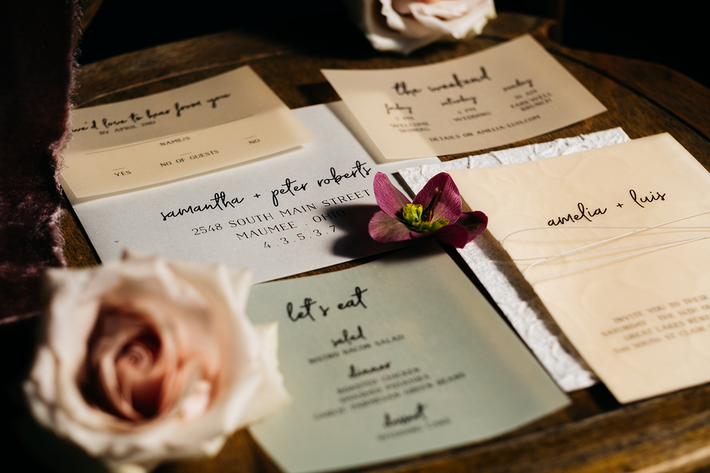 Wedding Stationary in Toledo, Ohio