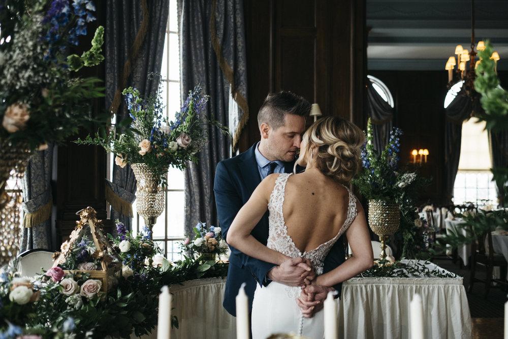 Styled Wedding Session with Toledo Wedding Photographers at the Toledo Club in Ohio