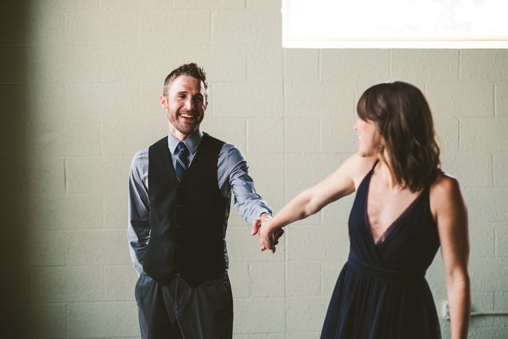 Wedding Photographers from Toledo Ohio Capture Engagement Session at Great Lakes Event Center