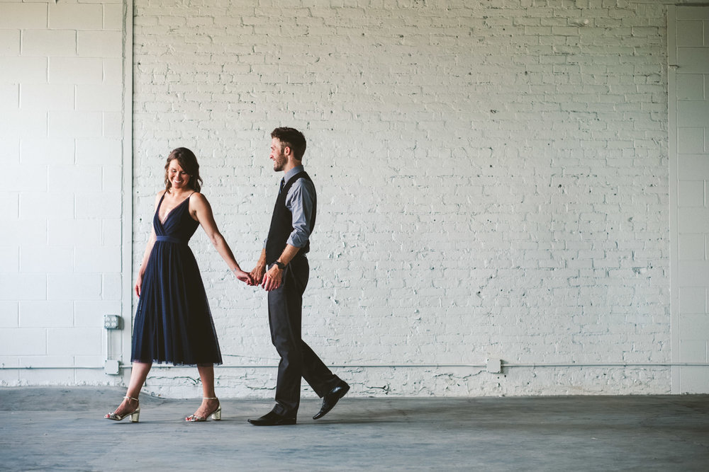 Photographers from Northwest Ohio at Great Lakes Event Center Engagement Session with Toledo Couple