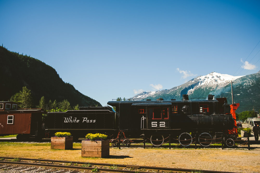 train in stagway, alaska