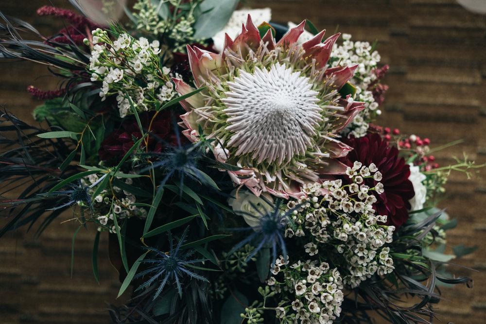 La Boutique Nostalgie Floral Designs at Wedding Reception with Toledo Wedding Photographers