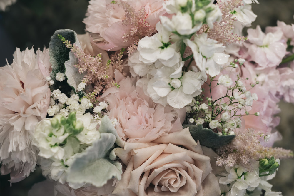 Floral Designs from La Boutique Nostalgie on Wedding Day in Toledo Ohio with Wedding Photographers