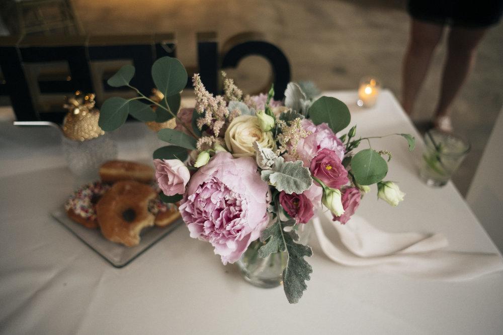 Wedding Reception Decor by Florist La Boutique Nostalgie captured by Toledo Wedding Photographers