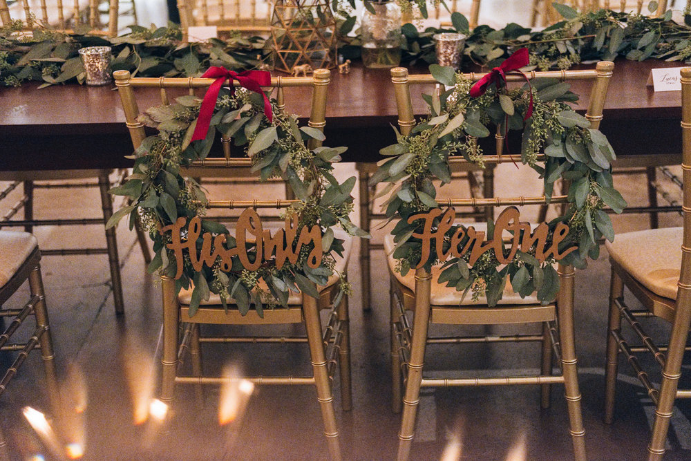 Bride and Groom Head Table Design by La Boutique Nostalgie with Photographers from Toledo Ohio