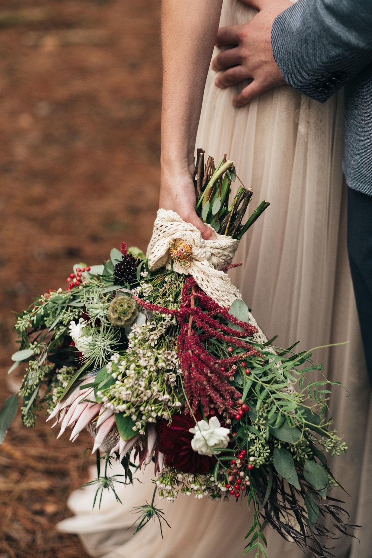 Vintage Bouquet Photographed by Toledo Wedding Photographers and Floral Design by La Boutique Nostalgie