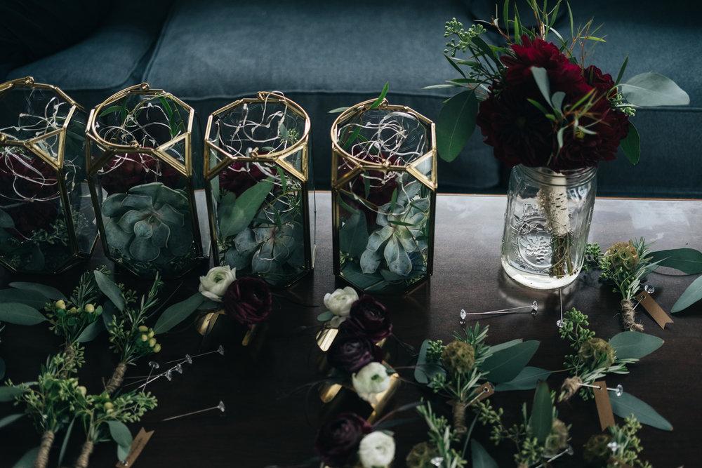 Wedding Bouquets by La Boutique Nostalgie Photographed by Toledo Wedding Photographers