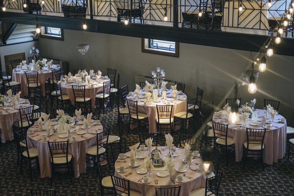 Wedding Reception Table Decor by La Boutique Nostalgie captured by Toledo Wedding Photographers