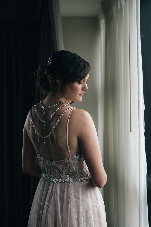 Bride on Wedding Day in Toledo Ohio with Photographers from Northwest Ohio