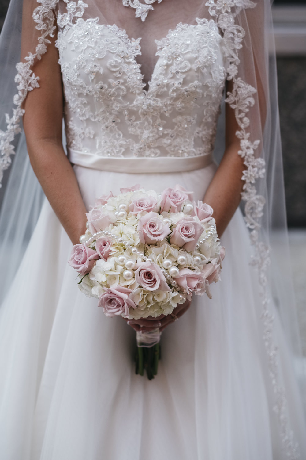 Wedding Dress and Floral Design in Toledo Ohio with Wedding Photographers