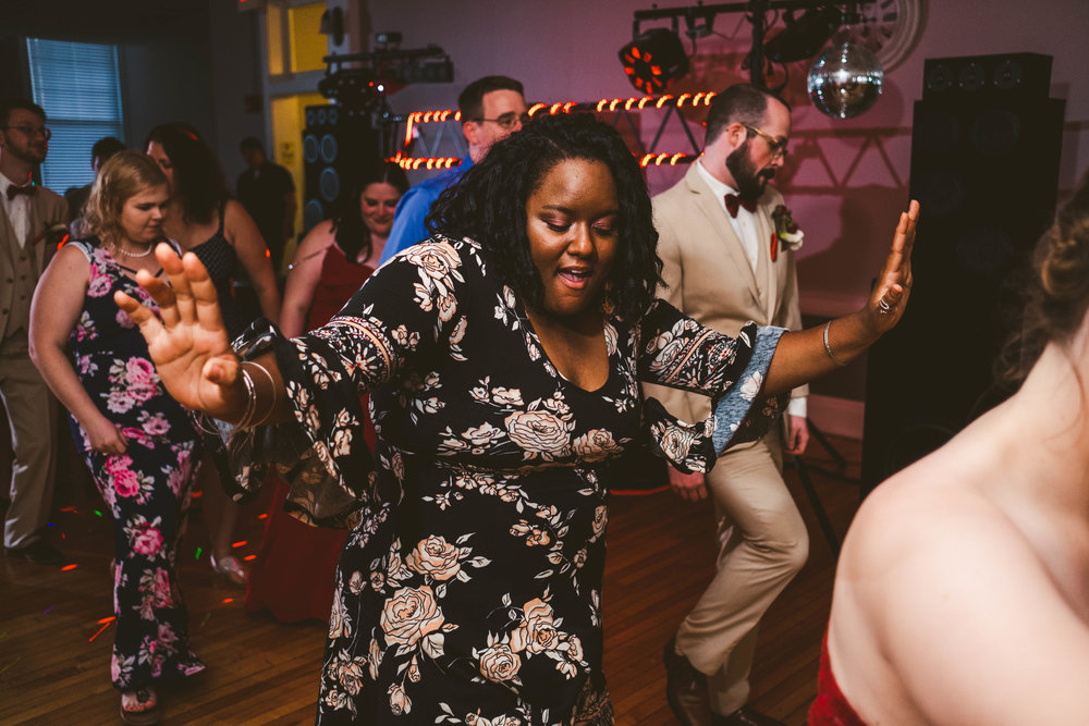 Guests at Toledo Ohio Wedding Dance at Reception with Wedding Photographers from Maumee