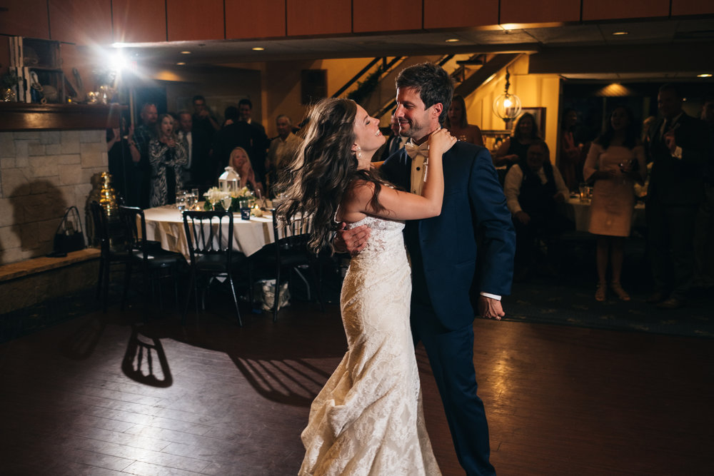 Bride and Groom's First Dance at Wedding Reception with Wedding Photographers from Toledo Ohio