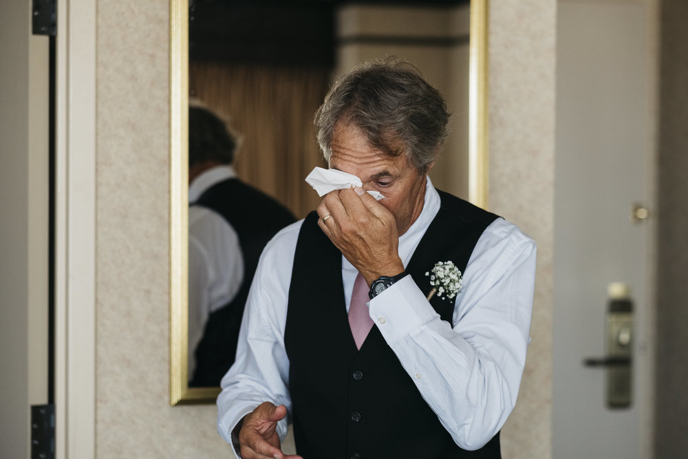 Father of the Bride Cries When He Sees His Daughter on Her Wedding Day in Toledo Ohio