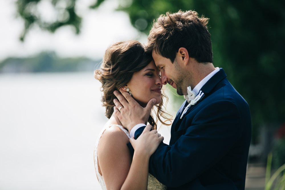 Ohio Wedding Photographers from Toledo Capture Photo of Bride and Groom After Ceremony
