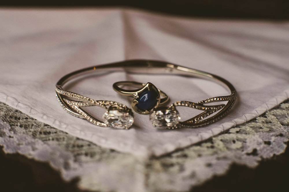 Bride's Wedding Jewelry at the Renaissance Hotel in Downtown Toledo for Wedding Day
