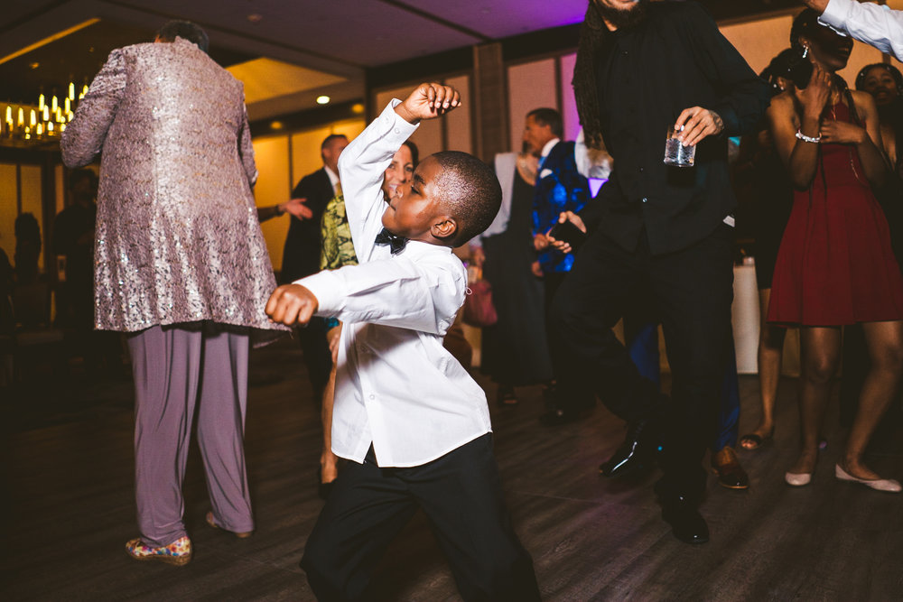Wedding Dancing at the Reception at the Downtown Toledo Renaissance Hotel with Photographers from Toledo Area