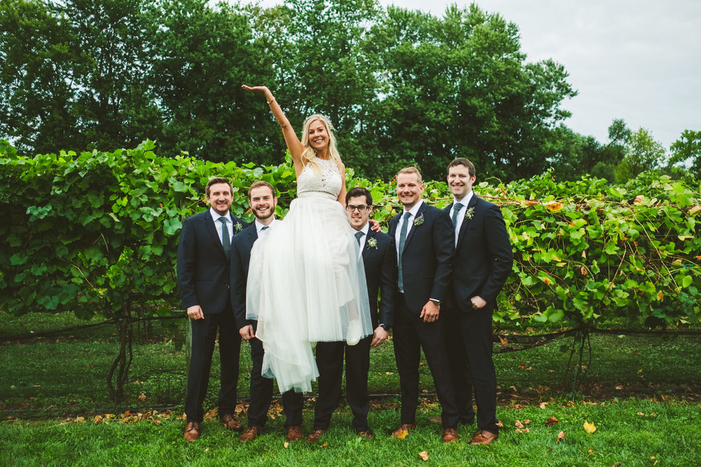 Bridal Party at Gervasi Vineyard with Toledo Ohio Destination Wedding Photographers