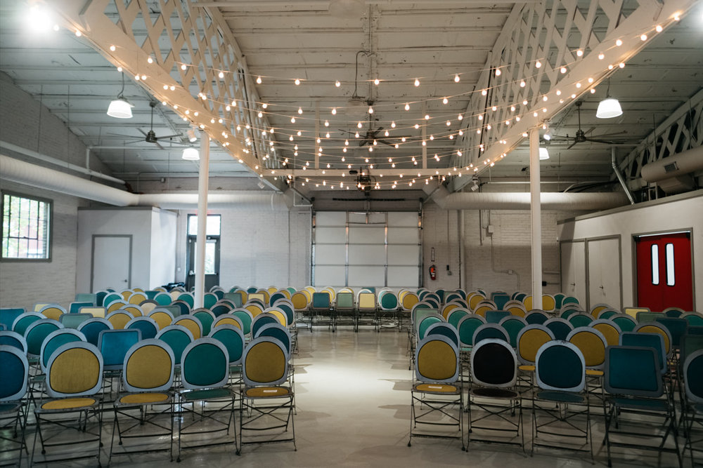 Growing Hope Market Place Ceremony Location for Ypsilanti Michigan Couple with Toledo Photographers
