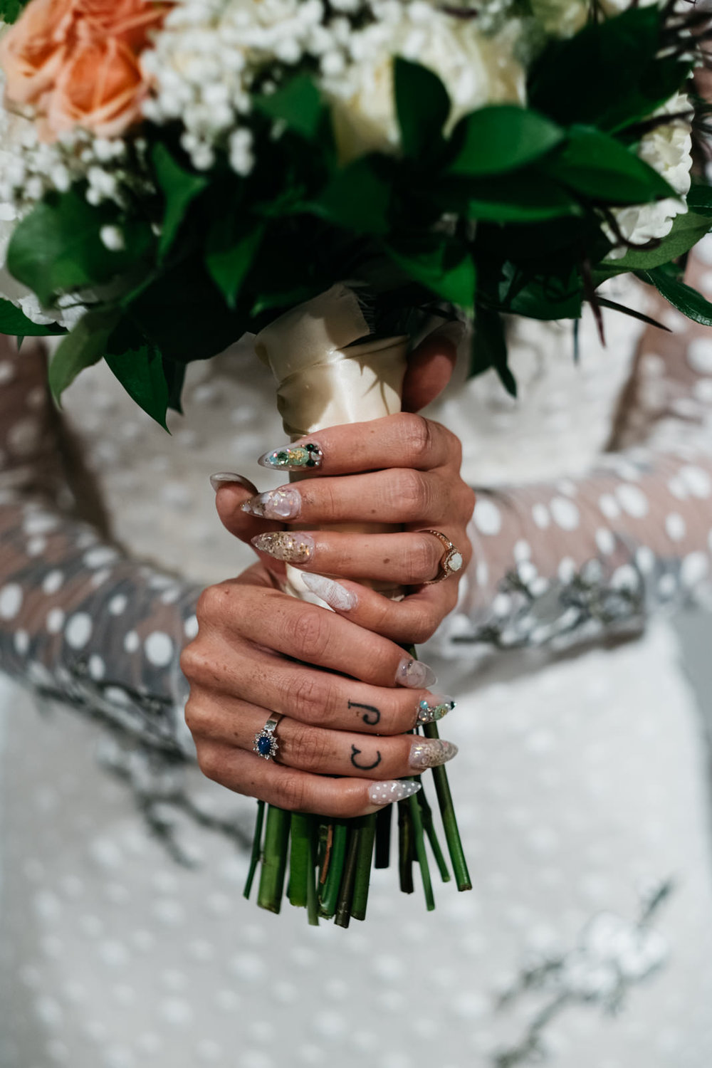 Brides Nails and Flowers in Ypsilanti for Wedding at Growing Hope Market Place