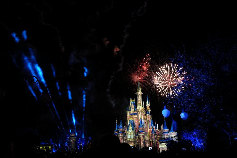 Firework Show at Disney with Toledo Ohio Photographers on Vacation