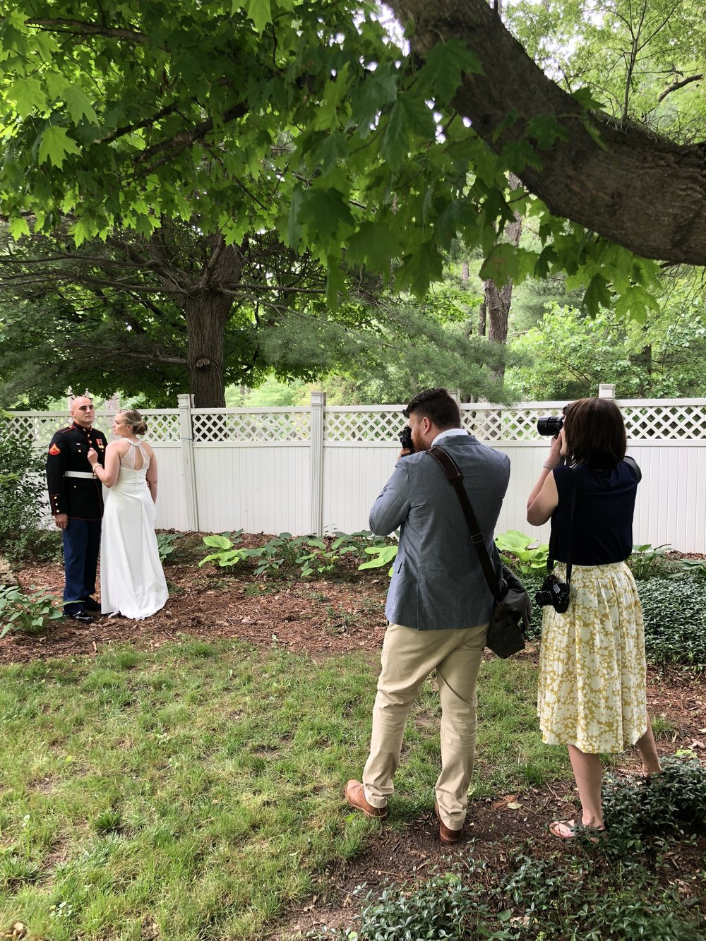 Wedding Photographers in Action at Toledo Ohio Wedding