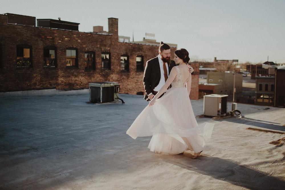 Wedding Photographers at Rooftop Wedding in Toledo Ohio