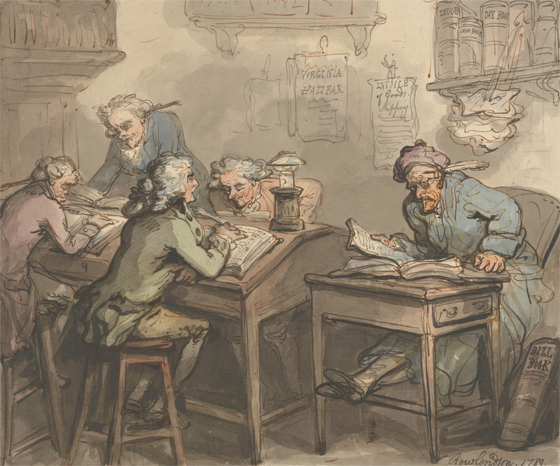 Thomas Rowlandson,  Merchant's Office