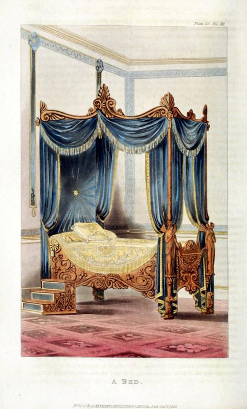 Grecian style bed