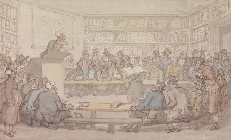 Thomas Rowlandson, A Book Auction