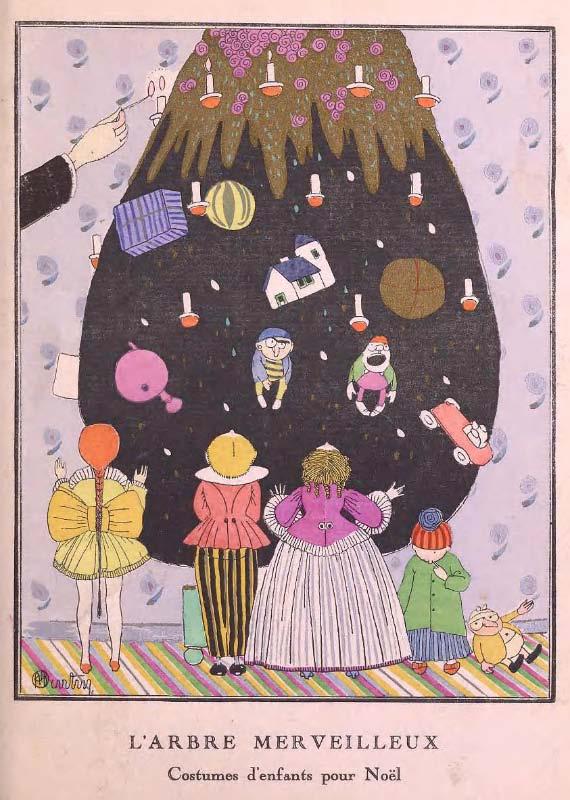 """Gazette du bon ton, """"  L'arbre merveilleux  """" 1914"""