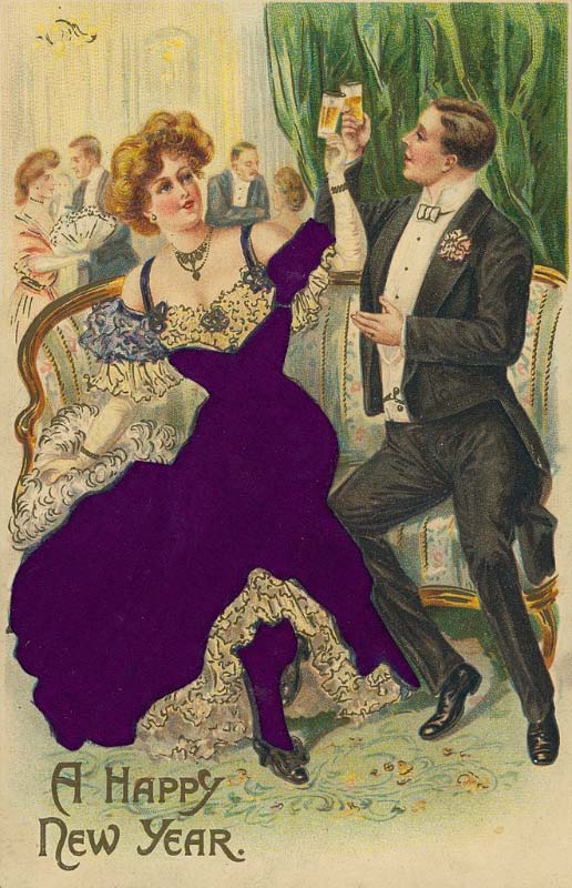 A Happy New Year, ca 1909
