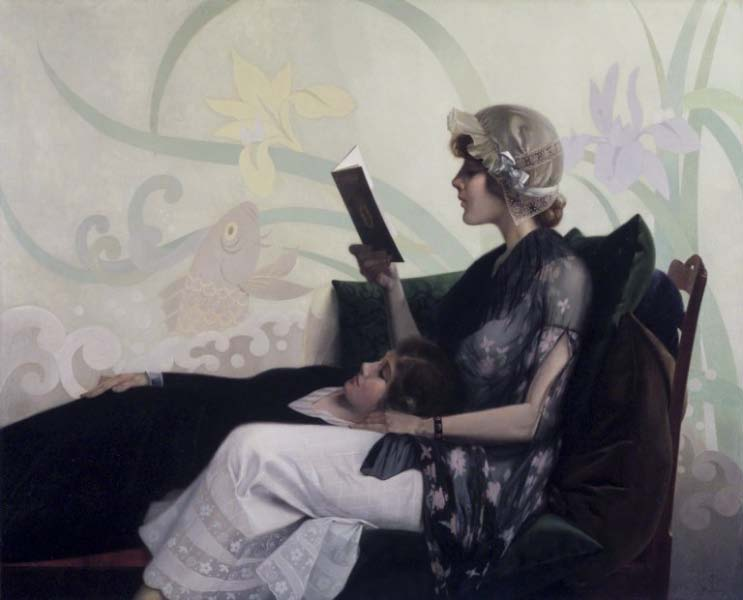 Harry Willson Watrous,   Just a Couple of Girls   circa 1915,
