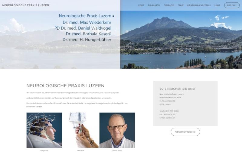 www.neuroluzern.ch - Webdesign & Bilder