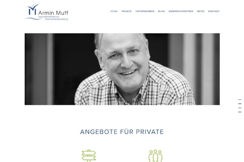 www.arminmuff.ch - Webdesign & Portraits