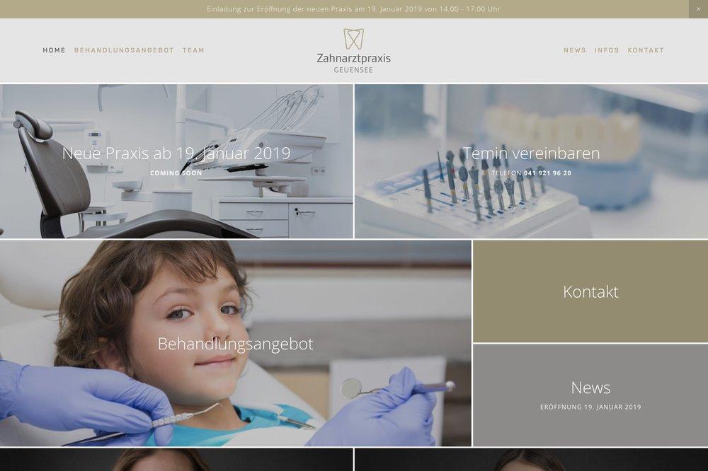 www.zahnarztpraxis-geuensee.ch - Webdesign & Portraits