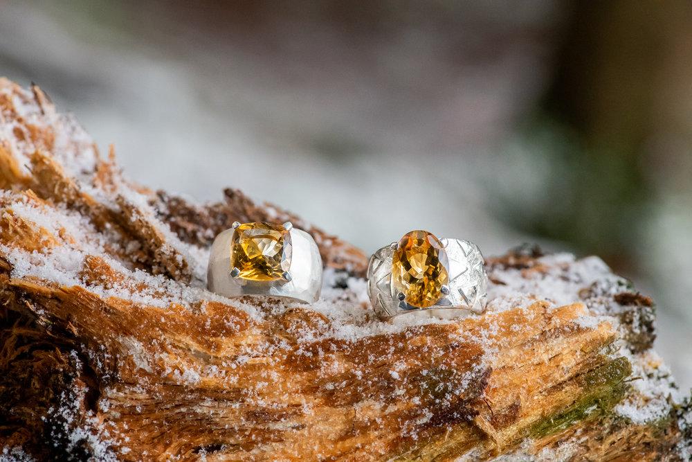 Ringe von Olga Ribler im Schnee