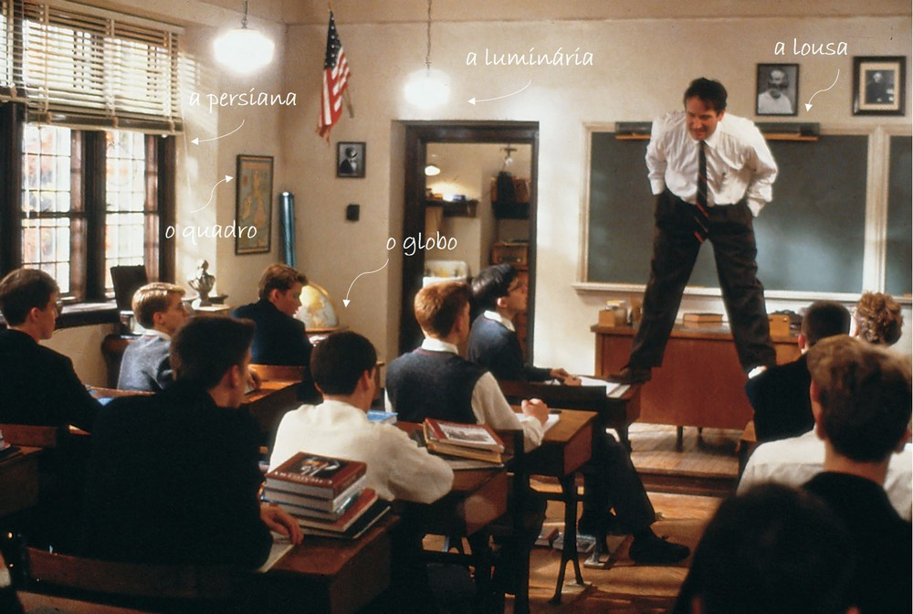 Aula com Mr. Keating.