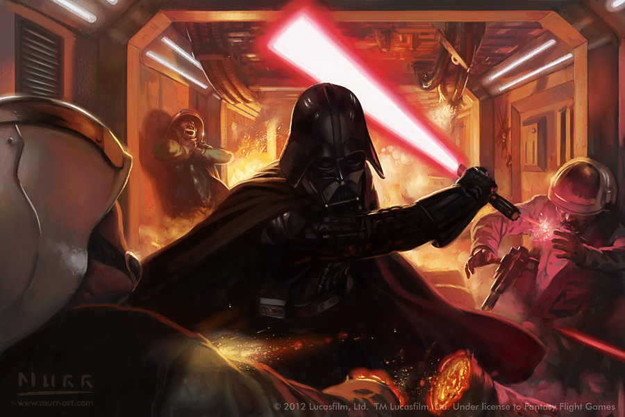 """Vader's Justice"", Client: Fantasy Flight Games, 2012, digital"