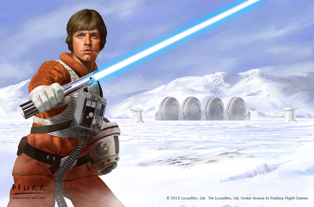 """Luke Skywalker - Defender of the Cause"", Client: Fantasy Flight Games, 2013, digital"