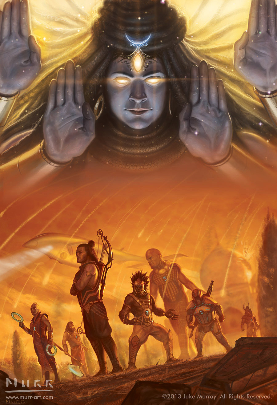 """Age of Shiva"", Client: Solaris Books, 2013, digital"