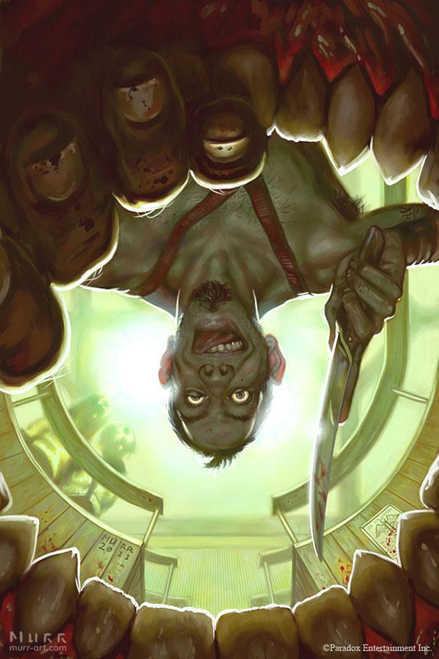 """KULT #3 - 'Open Wide!'"", Client: Dark Horse Comics, 2011, digital"