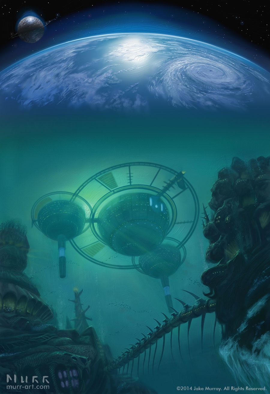 """World of Water"", Client: Solaris Books, 2014, digital"