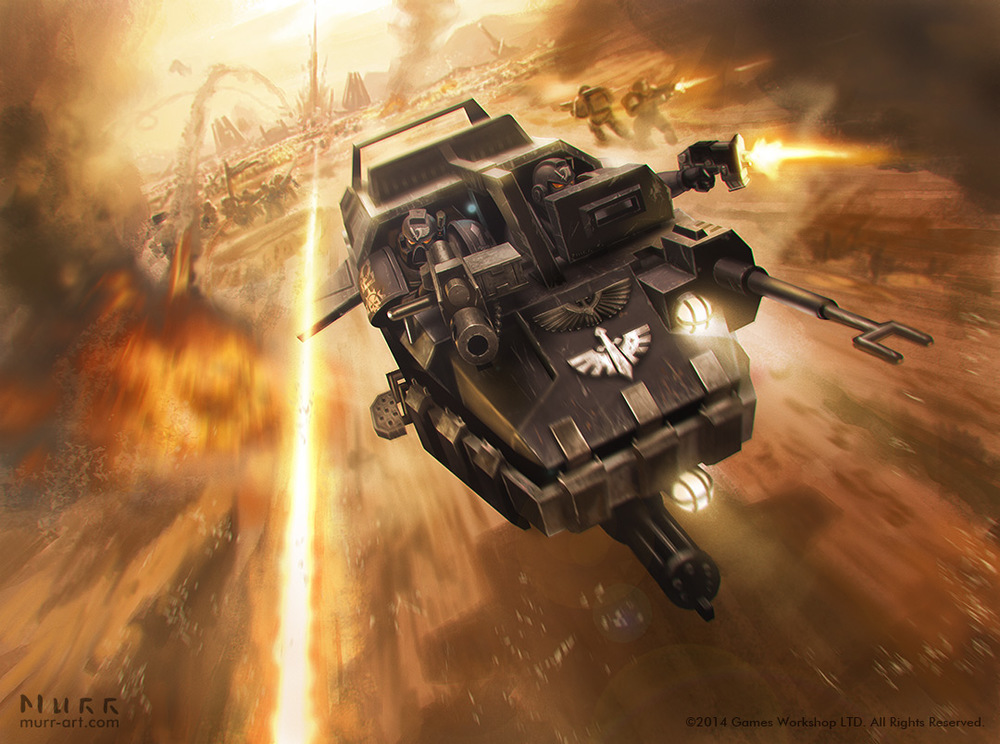 """Ravenwing Landspeeder"", Client: Games Workshop, 2014, digital"