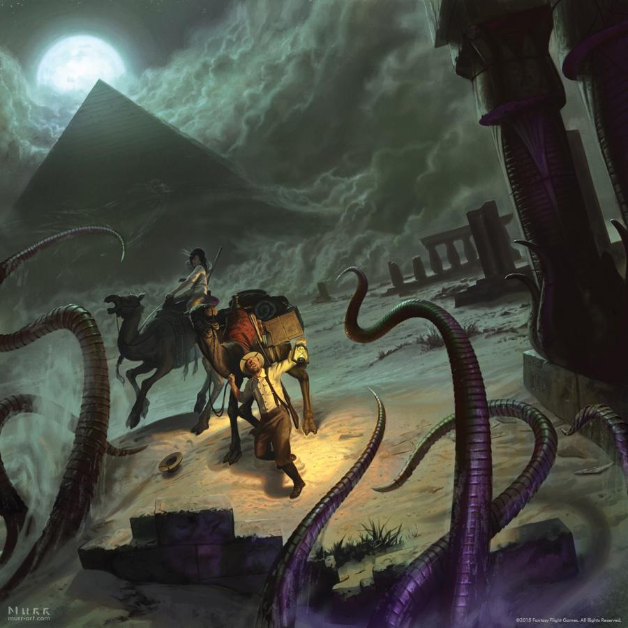 """Under The Pyramids"", Client: Fantasy Flight Games, 2015, digital"