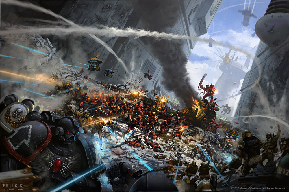 """United Tau VS The Imperium"", Client: Games Workshop, 2015, digital"